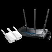 TL-H39RT&TL-H29EA(1+2套装) 450M触屏HyFi智能无线套装