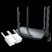 TL-H69RD&TL-H29EA(1+2套装) AC900双频HyFi智能无线套装