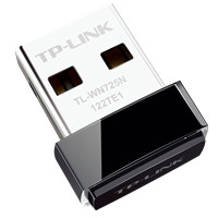 TL-WN725N 微型150M无线USB网卡精致小巧,插上电脑即可WiFi共享,兼容iPTV机顶盒