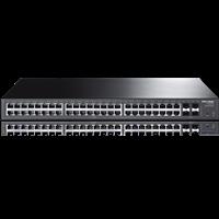 TL-SG2452 48G+4SFP全千兆简单网管交换机支持端口汇聚、Tag VLAN等功能,满足高性能化管理需求