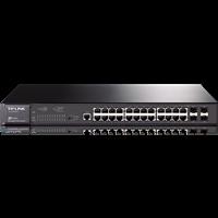 TL-SG3424P 24口全千兆二层网管PoE交换机24个RJ45端口,支持PoE供电,最大供电功率达320W