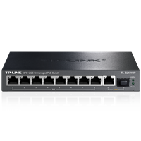 TL-SL1210P 8FE+2GE非网管PoE交换机提供8个百兆端口,2个千兆端口,灵活扩展网络。
