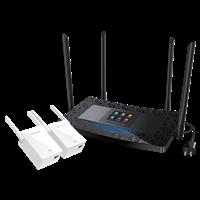 TL-H69RT&TL-H29EA(1+2套装) AC900双频触屏HyFi智能无线套装墙体零阻隔,高质量Wi-Fi全覆盖