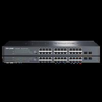 TL-SG1226P 24FE+2GE非网管PoE交换机24个千兆兆RJ45端口支持PoE供电,最大供电功率达185