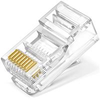 TL-EH5e01-50 超五类非屏蔽网络水晶头 50个装用做网络设备的技术深度做布线,用超国际标准的企业标准定质量