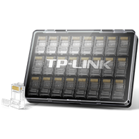 TL-EH602-24 六类非屏蔽网络水晶头 24个精品装用做网络设备的技术深度做布线,用超国际标准的企业标准定质量