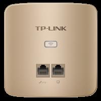 TL-AP300I-PoE 薄款香槟金 300M无线面板式AP一个AC,统一管理所有AP, 即插即用