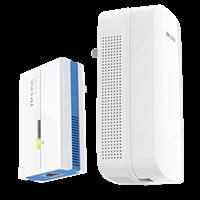 TL-PA1000&TL-PA1000W套装 AC1200双频无线扩展+1000Mbps电力线电力线Wi-Fi扩展套装,有插座,就有Wi-Fi