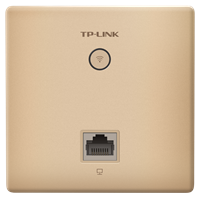 TL-AP1202GI-PoE 香槟金 AC1200双频千兆无线面板式AP2.4G/5G 双频并发,无线速率高达1167Mbps
