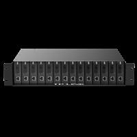 TL-FC1400 14槽光纤收发器专用机架全面兼容TP-LINK新版单口光纤收发器