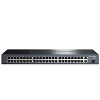 TL-SL1351 48+3G千兆非网管交换机提供48个RJ45端口,均可实现线速转发,即插即用,可上机架